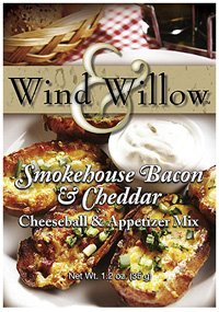 Cheeseball Willow - Wind & Willow Smokehouse Bacon & Cheddar Cheeseball & Appetizer Mix Boxes, Pack of 2