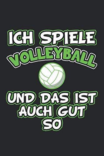 Ich spiele Volleyball und das ist auch gut so: Notizbuch, Notizheft, Notizblock | Geschenk-Idee für Volleyball Spieler | Karo | A5 | 120 Seiten por D Wolter