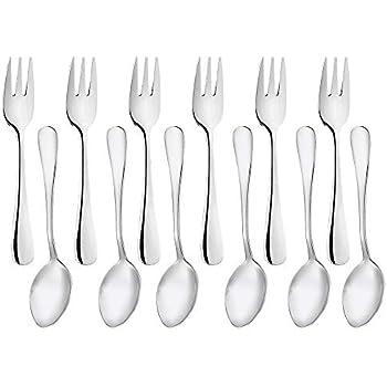 Amazon.com: zicome Conjunto de 12 tenedores de acero ...