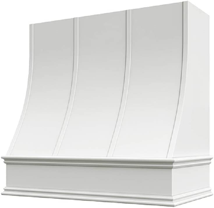Wholesale Wood Hoods Sloped with Strapping Style Hood Wooden Chimney Range Wall Mounted