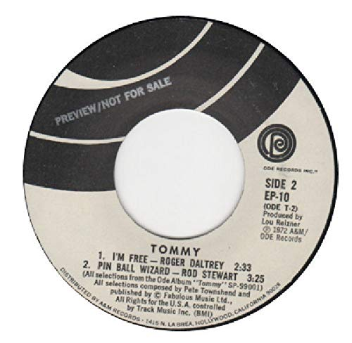 Rod Stewart, Maggie Bell, Merry Clayton, Roger Daltry: Tommy EP 1) Smash the Mirroe/Maggie Bell 2) The Acid Queen/Merry Clayton B/w 1) I'm Free/Roger Daltry 2) Pin Ball Wizard/Rod Stewart ()