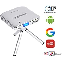 [COCOPICO] N1 DLP Pico Pocket Projector with Built-in Android 4.4| RAM 1GB ROM 4GB| 120 Lumen Home Theatre| Bluetooth/Wifi,HDMI, Airplay,Miracast 1080P