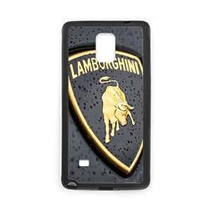 Lamborghini Logo Car 00 Samsung Galaxy Note 4 Cell Phone Case Black yyfabc-433864