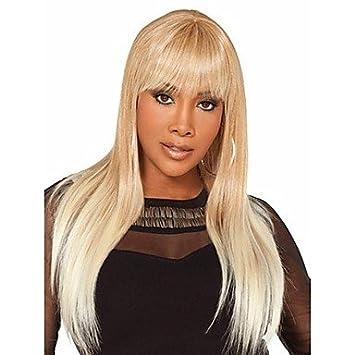 hjl-biondo & peluca blanca syntheic extensiones mujeres Signora Bottom de pelucas bob, multicolor