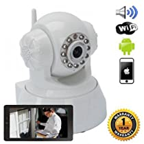 iSmart Wireless IP WiFi Pan Tilt Camera Night Vision Motion Detect Recording SD Slot Smarphone P2P Auto Connect QR Code Scan Set up
