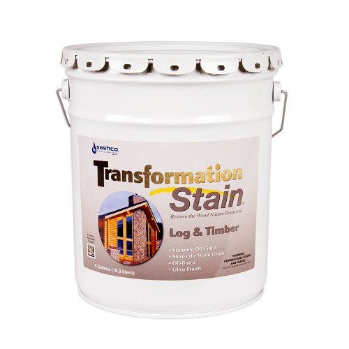 Sashco Transformation Log and Timber Stain, 5 Gallon Pail, Brown Tone Light (Pack of 1) by Sashco