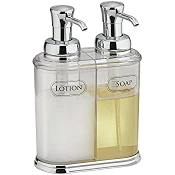 MDesign Double Liquid Hand Soap Dispenser Pump Bottle For Kitchen, Bathroom    Also Can Be
