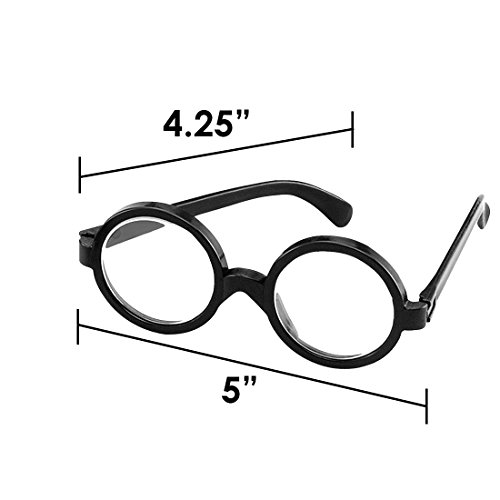 Dazzling Toys Wizard Glasses - Great Accessory for a Wizard (Harry Potter) Birthday Party, 12 Pack