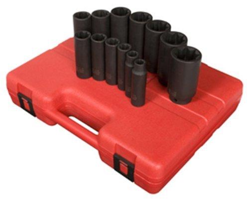 Sunex 2858 1 / 2インチドライブ深い8ポイントSAEインパクトソケットセット、13-piece by Sunex B01NA9OD5U