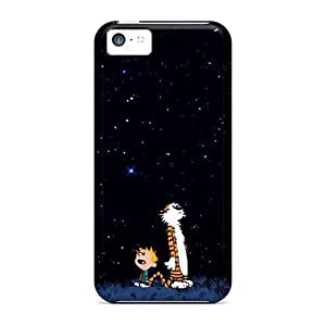Iphone 5c LCk16119vXoi Customized Vivid Calvin Hobbes Pattern Protective Hard Phone Case -JamieBratt