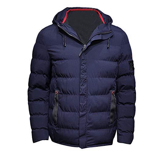 Giacca Blu Top Abbigliamento Colore Autunno Cappotto Moika Cerniera Cappuccio Puro Uomo Uomini Inverno Tasca HxOdndvPwq