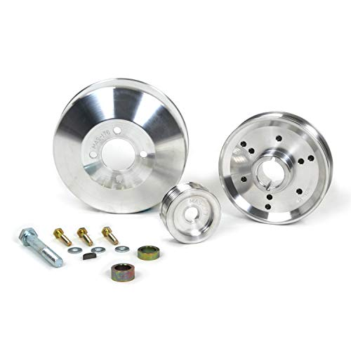 BBK 1555 Underdrive Pulley Kit for Ford Mustang 4.6/ GT/Cobra - 3 Piece Lightweight CNC Machined Aluminum Kit