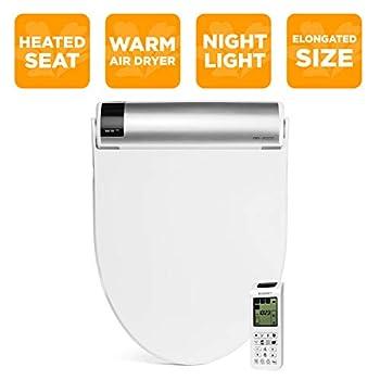Image of BioBidet Bliss BB2000 Elongated White Bidet Smart Toilet Seat, Premier Class, Unlimited Warm Water, Self Cleaning Hydroflush, Hybrid Heating, Wireless Remote Control, Inviting Nightlight, Vortex Wash Home Improvements
