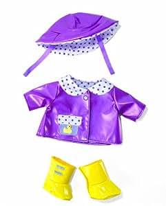 Manhattan Toys Baby Stella - Chubasquero y botas para muñecas