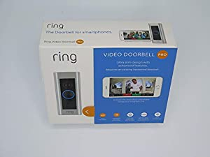 Ring Doorbell Pro - Wi-Fi Enabled Video Doorbell – Works Alexa – Bonus Screen Protector & Microfiber Cloth – All Installation Hardware Included