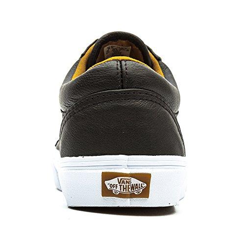 Bestelwagen Unisex (premium Leer) Oude Skool Zwart Skate Schoenen Zwart