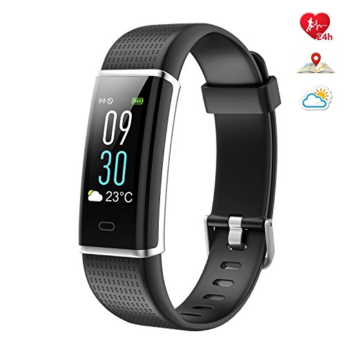 Semaco Fitness Tracker, Color Screen Heart Rate Monitor Waterproof Smart Activity Tracker Sleep Weather Step Calories Pedometer Sport Watch Wristband for Android & (Full Inactive Set)