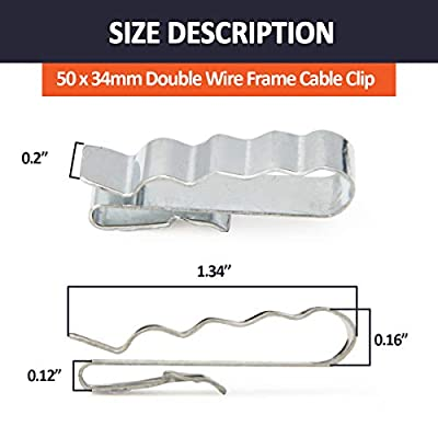 ELITEWILL 34mm Stainless Steel Trailer Frame Cable Clamp Wire Clips Wiring to Frame 25Pcs: Automotive
