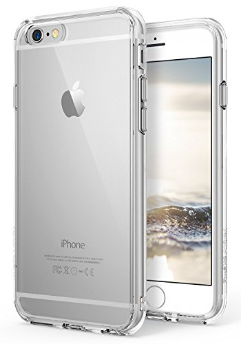 iPhone 6S/6 Case, Ringke [Fusion] Clear PC Back & TPU bumper [Drop Protection] Attached Dust Caps with Screen Protector For Apple iPhone 6/6S - Clear