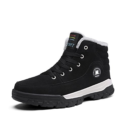 YIRUIYA Mens Causal Winter Snow Boots Skate Shoes With Velvet Black2 0k5xJ1GyJo