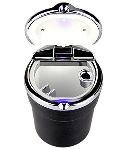 Gracave-Portable-Auto-Car-Cigarette-Ashtray-with-Blue-LED-LightSmokeless-Stand-Cup-Holder
