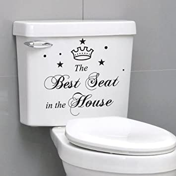 The Best Seat Toilet Bathroom Waterproof Removable Wallstickers - Toilet wall stickers