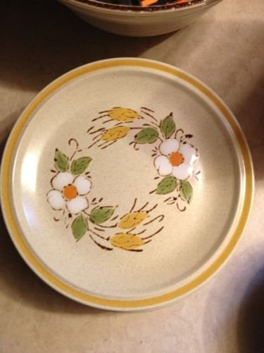 HEARTHSIDE GARDEN FESTIVAL Side, bread and butter, or sandwich PLATE PRAIRIE FLOWERS Stoneware Hand Painted ()