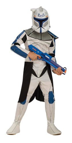 Star Wars Clone Wars Clone Trooper Child's Captain Rex Costume, (Luke Skywalker And Princess Leia Halloween Costumes)
