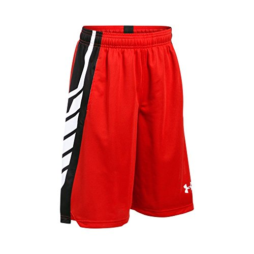 Under Armour Boy's Select Basketball Shorts, Risk Red /White, Youth (Red Arizona Shorts)