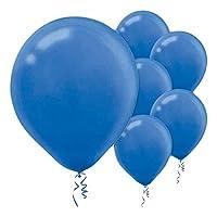 Enchanting Bright Royal Blue Solid Latex Balloons Party Decoration