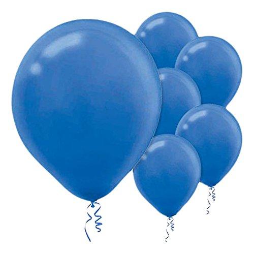 Enchanting Bright royal blue Solid Latex Balloons Party Decoration, 12