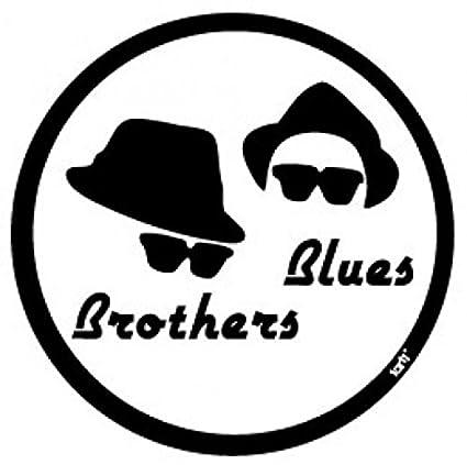 1art1 Blues Brothers - Cappelli E Occhiali Da Sole Sticker Adesivo (9 x 9cm) 8mvoctw4