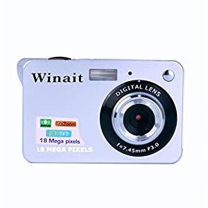 Digital Camera,18 Mega Pixels CMOS 2.7 inch TFT LCD Screen HD 720P Digital Camera Best for Carring