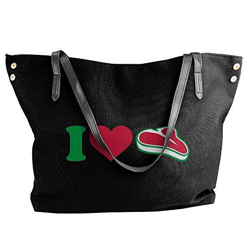 Love Handbag Shoulder Black Canvas I Women's Hobo Large Tote Bag Handbag Meat Tote gc4HStYqw