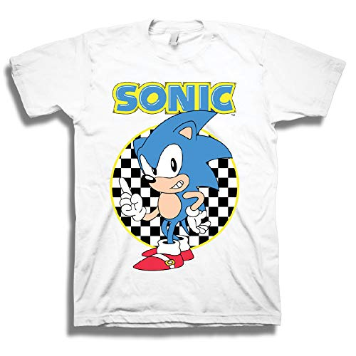 Price comparison product image Sega Official Sonic The Hedgehog Shirt - The Fastest Thing Alive - The Blur Blur - Official T-Shirt (White,  Medium)