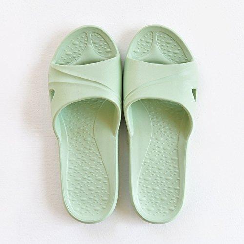 Suave Antideslizante y 39 Son la Sandalias Cuartos Ligero Femeninas Frescos Verano Minimalista en Interior Baño Baño luz Verde Parejas Zapatillas Fresco fankou de Grueso 38 0BPZn1WB7