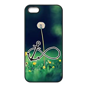 Custom dandelion with Infinity Anchor black (TPU) Case for iphone 5 at jany store123 store