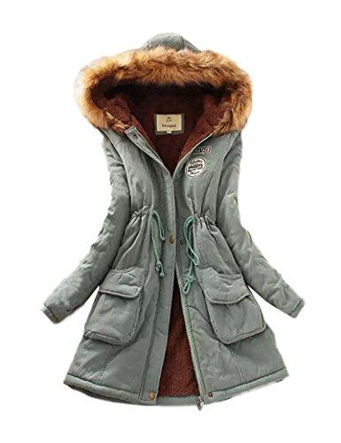 Gran tamaño Ocio Casual abrigo las mujeres de Blue 4XL