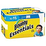 Bounty Essentials 2-Ply Paper Towels, Select-A-Size, 11in. x 5 7/8in, White, 78 Sheets per Roll, Carton of 12 Rolls