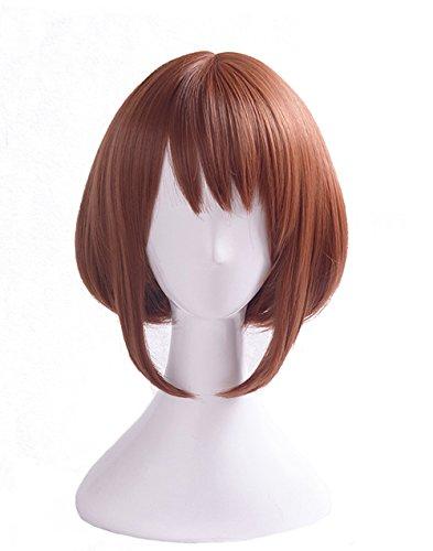 Uraraka Ochako Cosplay Wig Xcoser Boku no Hero Academia My Hero Academia Brown Straight Short Hair for Women