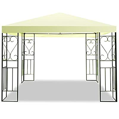 Tangkula 10'x10' Patio Gazebo Canopy Tent Steel Frame Shelter Awning (Gray)