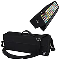 MEEDEN 120 Piece Markers Carrying Case Empty Holder for Copic Prismacolor Touch Spectrum Noir Paint Markers