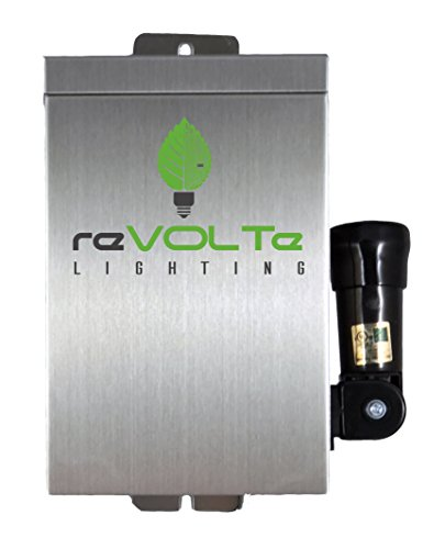 reVOLTe Landscape Lighting SST-75-TP Stainless Steel Transformer 75 Watt with Integrated Mechanical Timer and Modular Photocell
