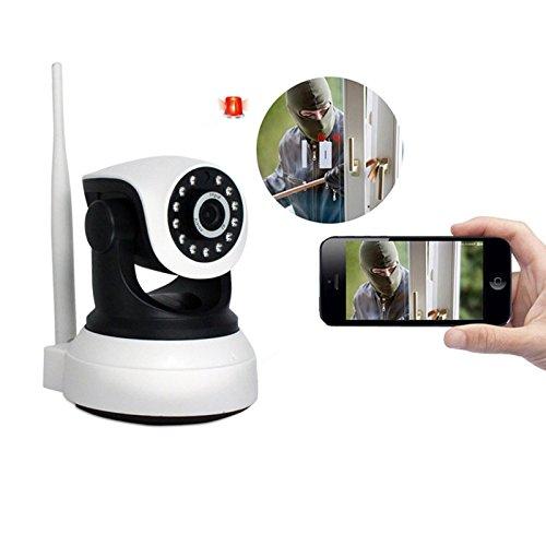Ip-Video-Überwachungssystem Überwachungskamera Drahtlose , Voice Intercom / 1 Million Pixel Di / Infrarot-Nachtsicht Wireless-Netzwerk-Ip-Kamera Gray