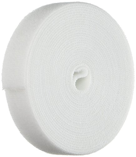 (Monoprice Hook & Loop Fastening Tape 5 Yard/roll, 0.75-inch - White (105829))