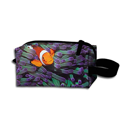 Clown Fish Pattern Pencil Case Holder Zipper Pencil Bag Makeup Bag Cosmetic Bag Coin Purse Pouch Travel Toiletry Bag Multi-Purpose Bag 7.9 X 2.4 X 3.5