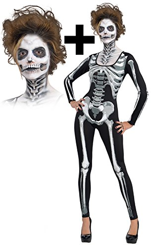 Black u0026 Bone Skeletons Cat suit + Makeup  sc 1 st  Amazon UK & Black u0026 Bone Skeletons Cat suit + Makeup: Amazon.co.uk: Toys u0026 Games