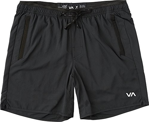 (RVCA VA Yogger III Sports Shorts Black Size Large Workout Leisure)