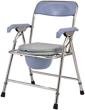 MMPY Behinderte Toilette for ältere Menschen, Klappstuhl Duschstuhl for ältere Menschen, Mobiltoilette Hocker for Schwangere Frauen
