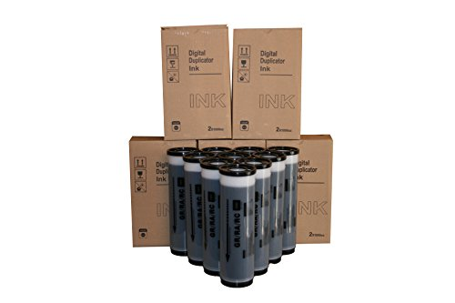 10 Wholesale Widgets Brand Universal Black Inks, Compatible with Riso S-539 & S-569 for use in Risograph GR, RA, and RC Series duplicators That use The S539 or S569 Ink.